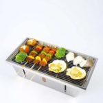 Оригинал XiaomiBBQGrillНержавеющаястальСкладная печь для барбекю Уголь для барбекю для Кемпинг BBQ Набор