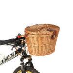 Оригинал BIKIGHTМодныйClassicСъемныйПлетеныйвелосипед Велосипед Передняя корзина Коробка Корзина с крышкой