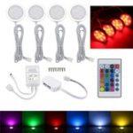 Оригинал 4PCS RV RGB LED Потолочный светильник Авто Dome Внутренний свет под лампами кабины Лодка Van 12V