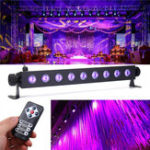 Оригинал 27W 9 LED UV 395-400NM Дистанционное Управление Stage Light Wall Wash Лампа для Party Halloween Club DJ