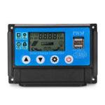 Оригинал PWM 60A 12 / 24V Auto Adapt LCD Солнечная Контроллер заряда Батарея Регулируемый регулятор