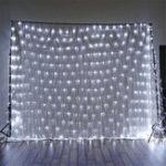 Оригинал 1.5×1.5m IP65 LED Занавес Fairy Holiday String Свет Рождественская вечеринка Свадебное Декор EU Plug AC220V