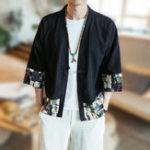 Оригинал МужскаяхлопчатобумажнаялентадляпечатиSplice Chinese Style Jacket Coat