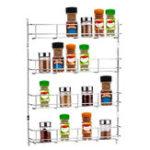 Оригинал 4 Tiers Kitchen Spice Банка Шкаф для стойки Органайзер Держатель кронштейна для крепления настенного крепления