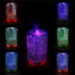 Оригинал Цвет Изменение 3D-освещения Essential Масло Aroma Диффузор Ультразвуковая Туман Увлажнитель Ароматерапия