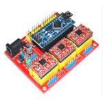 Оригинал CNC Shield V4 Плата расширения с Nano и 3Pcs Red A4988 для 3D-принтера