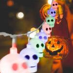 Оригинал MoFun 16PCS Хэллоуин Ghost LED String Light Игрушка Украшение Игрушки Party Home Decor