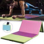 Оригинал 118×47×2inch4 Складной гимнастический коврик Yoga Упражнение Gym Airtrack Panel Tumbling Восхождение Пилатес Pad