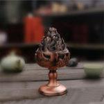 Оригинал Антикварная латунь-держатель для горелки Сплав для дома Сплав для дома Творческая фумигационная печь Буддийская кадильница