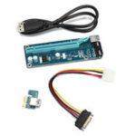 Оригинал PCIE PCI-E Express 1x до 16x Extender Riser Card Adapter 15Pin Power USB 3.0 Расширение Mining