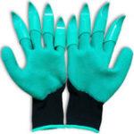 Оригинал KCASA1парановогосадоводстваПерчатки для сада копания посадка с 4 ABS пластиковые когти сад рабочие принадлежности зеленый ре