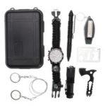 Оригинал 7 В 1 SOS Аварийное оборудование Многофункциональные часы Tactical Ручка Выживание Набор Набор