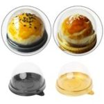 Оригинал 50шт.Яйцо-желтокМуфтовыйпирогКоробкаКруглый лунный пирог для пирожных Упаковка Коробка Форма для выпечки