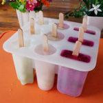 Оригинал Силиконовый 9 Cavity Замороженные Мороженое Lolly Juice Maker Pop Mold Mold Popsicle Палка Йогурт Refrigerat