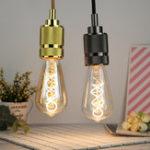 Оригинал E27 4W ST64 Edison Dimmable Clear Gold Теплый белый Retro Edison Светодиодный Лампа AC110-130V AC220-240V