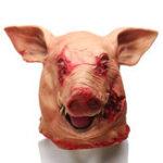 Оригинал HalloweenPigHeadМаскаМаскарадУжас Animal Cosplay Party Латекс Маска Подарки