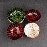 Оригинал Красочные природные Кокос Shell Bowl Экологичные ремесла искусства работы украшения