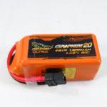 Оригинал Гигантская мощность DINOGY ULTRA GRAPHENE 2.0 14.8V 1300mAh 80C 4S Lipo Батарея XT60 Plug для RC FPV Racing