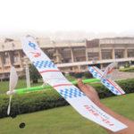 Оригинал Эластичная резина Стандарты Powered DIY Propeller Plane Toy Набор Модель самолета OutdoorToy