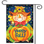 "Оригинал 28 ""x40"" Happy Smile Fall Scarecrow Welcome House Сад Флаг-ярды Баннерные украшения"