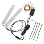 Оригинал 18/25/32 см Blue & Red Switchback Headlight LED Strip DRL Light Трубка IP67