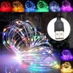 Оригинал 2M 20 LED USB Silver Провод Fairy String Праздничный свет Party Home Decor Водонепроницаемы