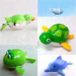 Оригинал Cute Wind-Up Water Бассейн Bath Diver Пластиковые игрушки Плавание Детские игрушки для детей