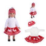 Оригинал 18inch Кукла Одежда для американской девушки Кукла Свитер + юбка + шапочка Шапка без ребенка-новорожденного