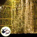 Оригинал Солнечная Powered 8 режимов 100 LED Рождественская елка Фея String Свадебное Главная Party Light Медь Провод DC2V