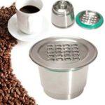 Оригинал Модернизированная многоразовая многоразовая чашка с чашкой из нержавеющей стали с крышками CM для машины Nespresso