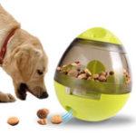 Оригинал CreativeяйцаShapeтумблерPetFood Dispenser Собака Кот Игрушка Pet Обучение Интерактивный бал для среднего или малого домашнего животного