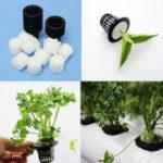 Оригинал Черный пластиковый сетчатый горшок Hydroponic Aeroponic Растение Grow Net Сад Цветочный клон