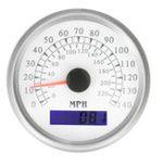 Оригинал 86 мм GPS Спидометр калибра 140 миль / ч Digital Marine Auto Авто Светодиодный Одометр