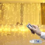 Оригинал LUSTREON 3M * 3M USB 15W IP67 8 режимов Дистанционное Управление 300LED Занавес Fairy String Holiday Light DC5V