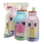 Оригинал Kiibru Молочный коктейль Squishy 16 * 7 * 6.5CM Лицензированный медленно растущий Soft Гигантская игрушка с упаковкой