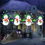 Оригинал ARILUX® Батарея Powered Portable 12 Colorful Шаблоны 4 LED Вращающийся фонарик Хэллоуин Рождество