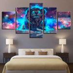Оригинал 5ПанелиСозвездиеЗвездноеSkyСтена Art Печать Картины Холст Wall Art Painting Unframed For Home Decorations