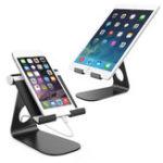 Оригинал Bakeey™АлюминиевыйсплавМногоугольныйрегулируемый противоскользящий настольный держатель для iPad Tablet Mobile Phone