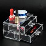 Оригинал Acrylic Clear Макияж Ящики косметические Органайзер ювелирные изделия Коробка Держатель хранения Чехол