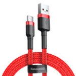 Оригинал Baseus 3A QC3.0 Высокоплотный плетеный высокоскоростной кабель для передачи данных 1M Для Oneplus 6 5t Xiaomi Mi8 Mi A2