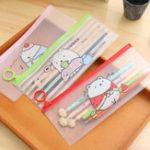 Оригинал Смазливая карандаш для мультфильмов Сумка Творческий минималистский рифовый картофельный кролик Pvc-чехол Сумка