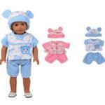Оригинал Sleeping Baby Bear Shape Кукла Одежда для 18-дюймовой американской девушки без ребенка-новорожденного