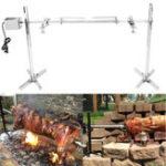 Оригинал Большая гриль-ротажерная коса Ротационная колонка с древесным углем BBQ Pig Chicken 15W Мотор Набор