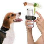 Оригинал CreativeДизайнСобакаПродовольственнаяLauncherсмарт-телефона ручка Кормление устройства Принять Pet's Внимание Инструмент для п