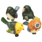 Оригинал 4 шт. / Set Resin Birds Статуя Статуэтка Главная Сад DIY Bonsai Desk Decor Ornament Decorations