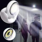 Оригинал Батарея Приводные поворотные шарниры на 360 градусов LED PIR Движение Датчик Ночной свет для дома с внутренним освещением