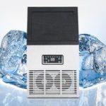 Оригинал 50kg / 110lb Авто Коммерческий Ice Maker Ice Cube Машина для производства машины Bar 220V 230W