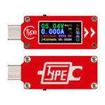 Оригинал RUIDENG TC64 Цветной экран PD Fast Charge Fast Test Type-C Тестер измерения напряжения в амперметре