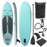 Оригинал НадувнаядоскадлясерфингаSoftПодставка для серфинга в стойке W / Упаковка 112x31x6inch 120 кг Несущий подшипник