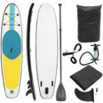 Оригинал 10FTНескользящаянадувнаядоскадлясерфинга Soft Подставка для серфинга Stand Up 118x31x4inch 120 кг Емкость